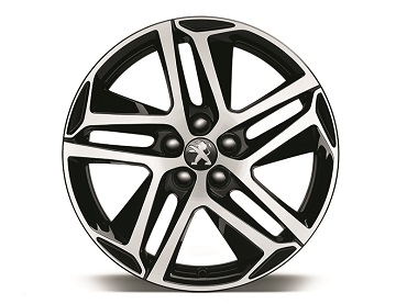 "PEUGEOT PEUGEOT 308 Set of 4 alloy wheel rims - 18"" BLACK SAPPHIRE"